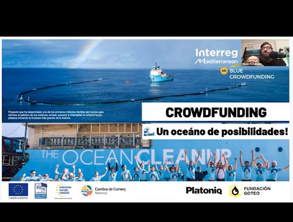 Éxito del webinar 'Blue crowdfunding, un océano de posibilidades'