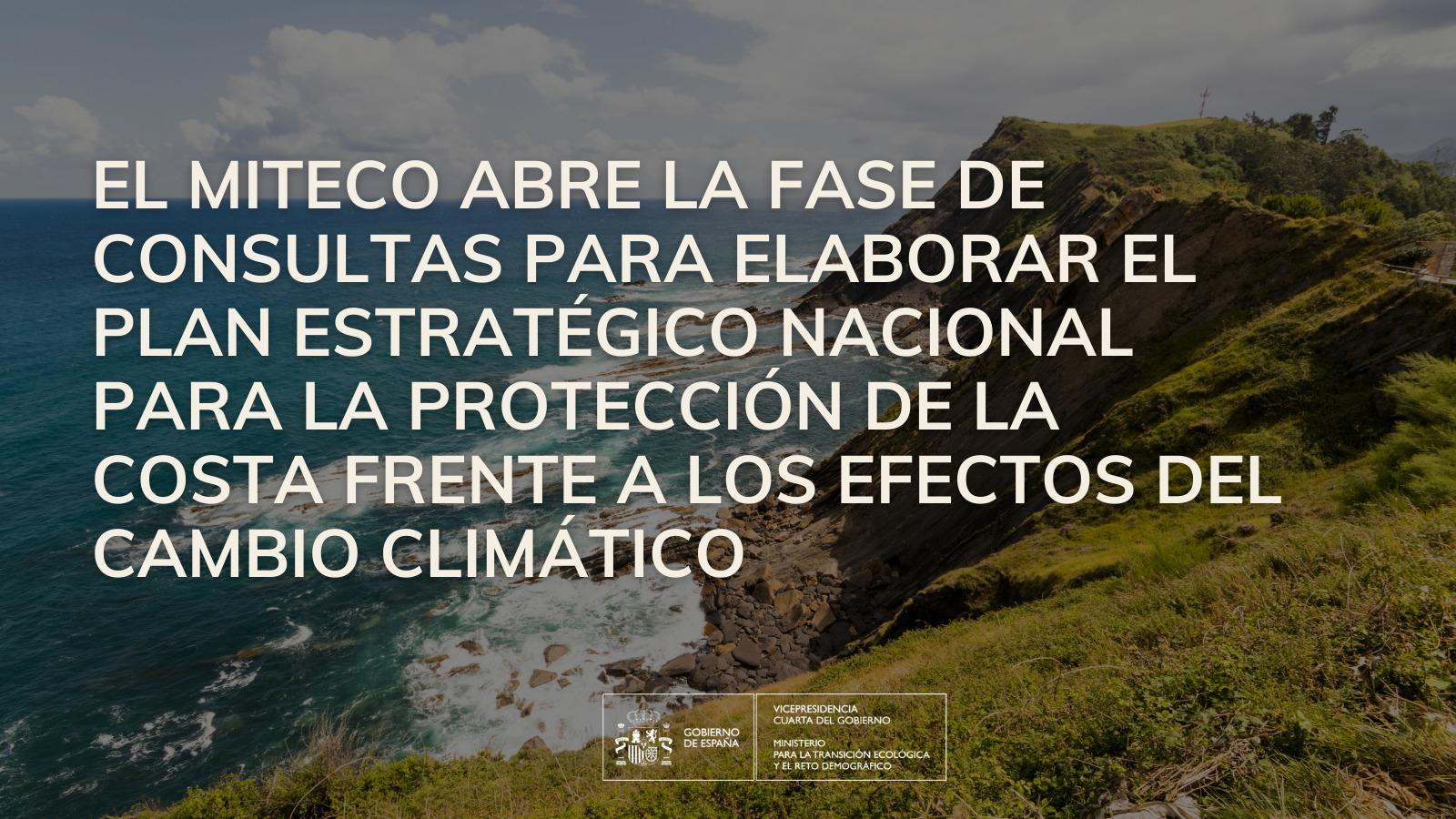 Plan Estratégico para la Protección de la Costa frente al cambio climáticto
