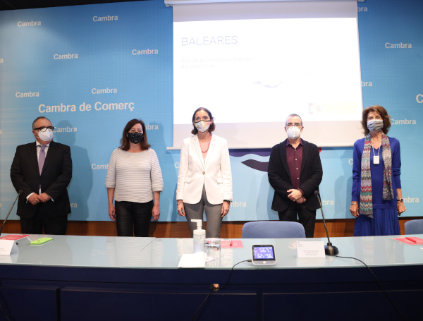 Reyes Maroto se reúne en la Cámara con el sector empresarial de Baleares